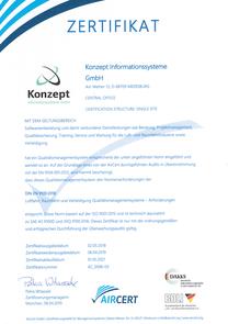 Zertifikat DIN EN 9100:2018